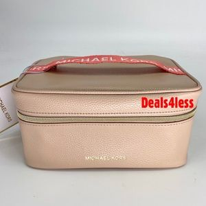 Michael Kors Cosmetic Bag Pouch Train Case NEW!!